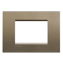Placa 4x2 3 Postos Livinlight Silk Square - BTicino
