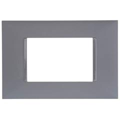 Placa 4x2 3 Postos Plusmais Cinza - Pial Legrand