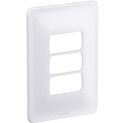 Placa 4x2 3 Postos Separados Zeffia Branco