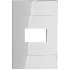 Placa 4x2 Branco para1 Posto Decor - Schneider