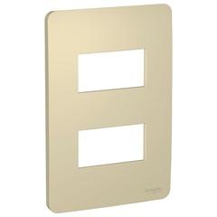 Placa 4x2 com 2 Postos Orion Horizon Gold - Schneider