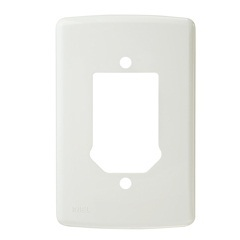 Placa 4x2 para 2 Interruptores E Tomada Duale Branca Ref. 1686 - Iriel