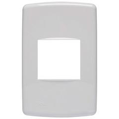 Placa 4x2 para 2 Módulos Duale Up Branco - Iriel