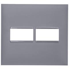 Placa 4x4 1+1 Posto Plusmais Cinza - Pial Legrand