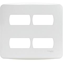 Placa 4x4 4 Postos Separados Miluz Branca - Schneider