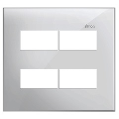 Placa 4x4 4 Postos Separados Simon 35 Branco - Simon