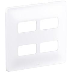Placa 4x4 4 Postos Separados Zeffia Branco - Pial Legrand