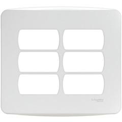 Placa 4x4 6 Postos Separados Miluz Branca - Schneider