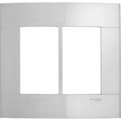 Placa 4x4 Branco para 6 Postos Decor  - Schneider