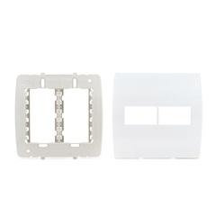 Placa 4x4 com Suporte 2 Módulos Separados Ilus Branco - Siemens