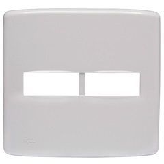 Placa 4x4 para 2 Módulos Duale Up Branco - Iriel