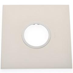 Placa 4x4 para 2 Postos Redonda Arteor Pearl Alumínio  - Pial Legrand