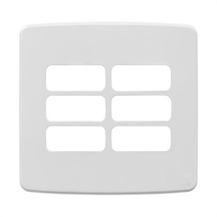 Placa 4x4 para 6 Módulos Compose Branca - WEG