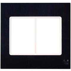 Placa 4x4 para 6 Módulos Delta Luxo Wenge Crystal - Siemens