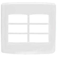 Placa 4x4 para 6 Módulos Duale Up Branca - Iriel