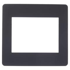 Placa 6 Postos 4x4'' Stellar Black - Schneider