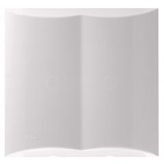 Placa Cega com 2 Pré Cortes 4x4 Brava Branca - Iriel