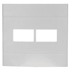 Placa com 2 Postos 4x4 Lunare Branca - Schneider