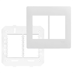 Placa com Suporte 4x4 6 Postos Habitat Branco - Fame