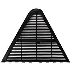 Placa de Ventilação para Telha Canalete 44 Delta Preta com 4 Peças - Fixtil