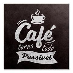 Placa Decorativa em Madeira 20cm Café - Casa Etna