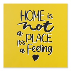 Placa Decorativa em Madeira 20cm Home Is a Feeling - Casa Etna