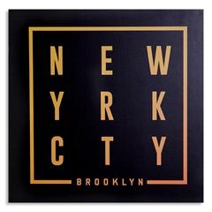 Placa Decorativa em Madeira Cidades 29cm New York - Casa Etna