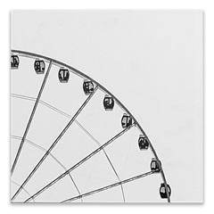 Placa Decorativa em Madeira Cidades Roda Gigante 29cm - Casa Etna