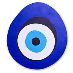 Placa Decorativa em Madeira Olho Grego 21x23cm - Casa Etna