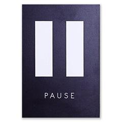 Placa Decorativa em Madeira Pause 29x20cm - Casa Etna
