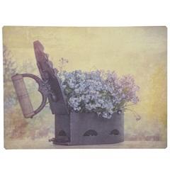 Placa Decorativa Vaso de Flores