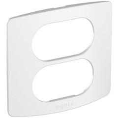 Placa E Suporte 2 Postos para Móveis Nereya Branco   - Pial Legrand