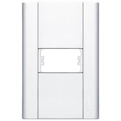 Placa para 1 Módulo Horizontal 4x2 Modulare Branca - Fame