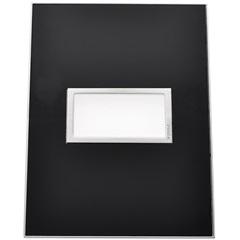Placa para 1 Posto Arteor Mirror Black 4x2  - Pial Legrand