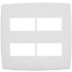 Placa para 2 + 2 Postos Separados 4''X4'' Pialplus Branca - Pial Legrand