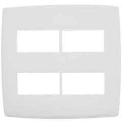 Placa para 2 + 2 Postos Separados 4''X4'' Pialplus Gloss Branca - Pial Legrand