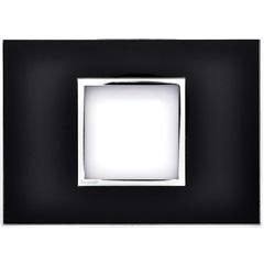 Placa para 2 Postos Arteor Mirror Black 4x2 - Pial Legrand