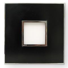 Placa para 2 Postos  Arteor Mirror Black 4x4 - Pial Legrand