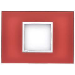 Placa para 2 Postos Arteor Mirror Red 4x2  - Pial Legrand