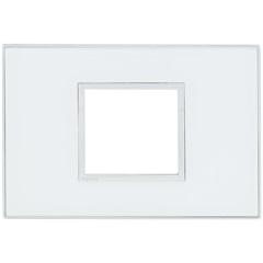 Placa para 2 Postos Arteor Mirror White 4x2  - Pial Legrand
