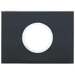 Placa para 2 Postos Redonda Arteor Mirror Black 4x2 - Pial Legrand