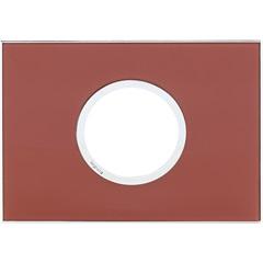Placa para 2 Postos Redonda Arteor Mirror Red 4x2 - Pial Legrand