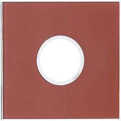Placa para 2 Postos Redonda Arteor Mirror Red 4x4 - Pial Legrand