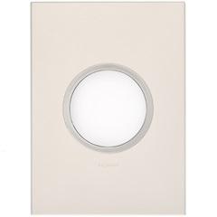 Placa para 2 Postos Redonda Arteor Pearl Alumínio 4x2 - Pial Legrand