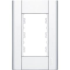 Placa para 3 Módulos Horizontais 4x2 Modulare Branca - Fame
