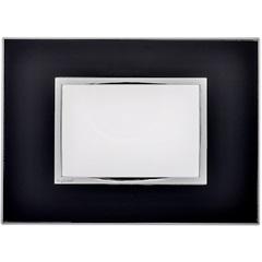 Placa para 3 Postos Arteor Mirror Black 4x2  - Pial Legrand