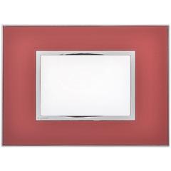 Placa para 3 Postos Arteor Mirror Red 4x2  - Pial Legrand