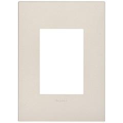 Placa para 3 Postos Arteor Pearl Alumínio 4x2 - Pial Legrand