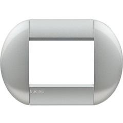 Placa para 3 Postos Redonda Living & Light Tech 4x2 - BTicino