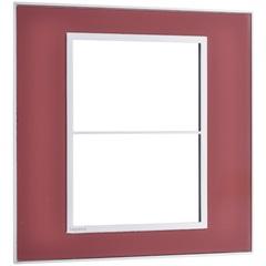 Placa para 3 Postos Separados Arteor Mirror Red 4x4 - Pial Legrand